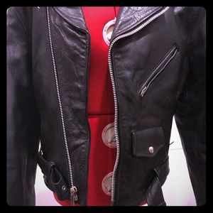 Leather biker jacket, legitimate moto